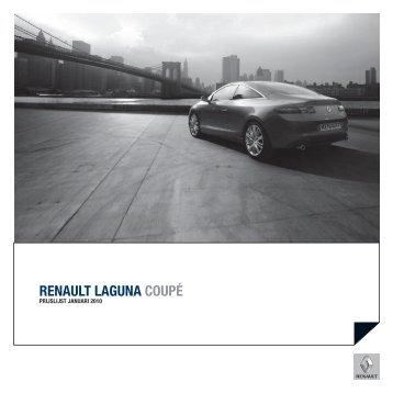 Prijslijst Laguna Coupe januari 2010 v2 - Standaardsite