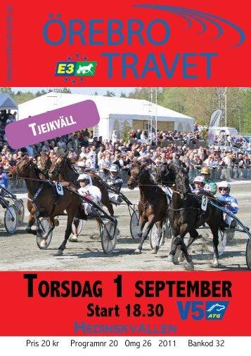 Torsdag 1 sepTember - Örebrotravet