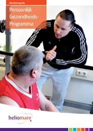 Persoonlijk GezondheidsProgramma - Heliomare