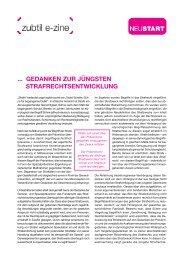 Gedanken zur jüngsten Strafrechtsentwicklung (PDF, 436 ... - Neustart