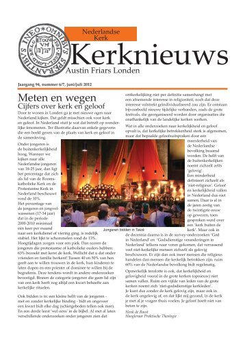 Jaargang 94, nummer 6/7, juni/juli 2012 - Dutch Church