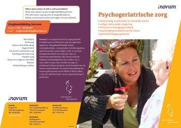 Folder Psychogeriatrische afdeling - Inovum