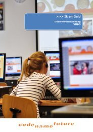 Docentenhandleiding Ik & Geld 2013 - Codename Future