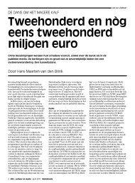 Tweehonderd en nòg eens tweehonderd miljoen euro - Mediafonds