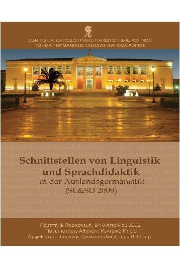 Veröffentlichung der Beiträge - Faculty of German Language and ...