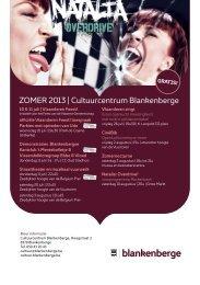 Download hier flyer met zomerprogramma - Cultuur Blankenberge