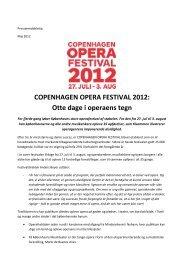 COPENHAGEN OPERA FESTIVAL 2012: Otte dage i operaens tegn