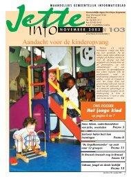 Jette Info 103 NL - 11/2003