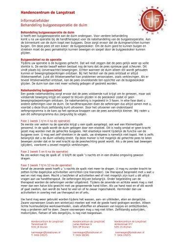 Buigpeesoperatie - Topfysiotherapie