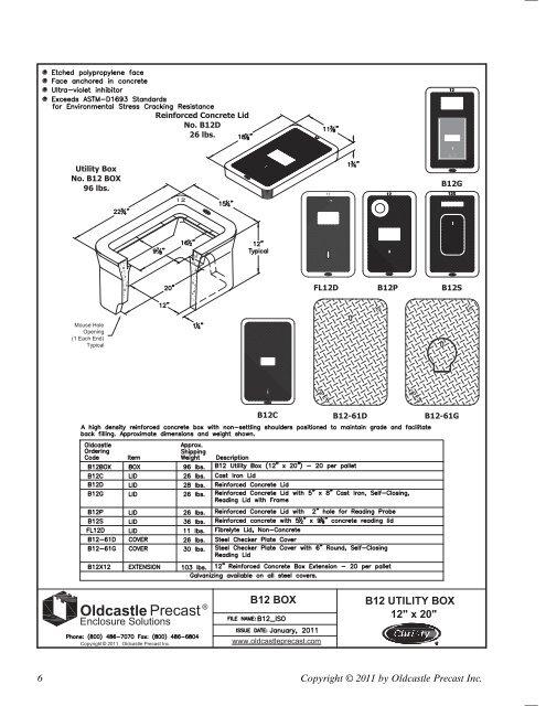 Utility Box No  B12 BOX 9