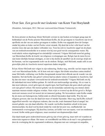 Over San. Een gevecht met leukemie van Koen ... - Johan Braeckman