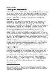 Teologisk reflektion - Svenska Missionskyrkan
