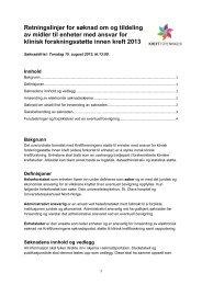 Retningslinjer for søknad om og tildeling av midler ... - Kreftforeningen
