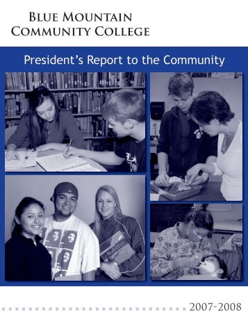 President's Report to the Community - Blue Mountain Community ...