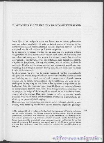 x. AVONTUUR EN DE WEG VAN DE MINSTE WEERSTAND