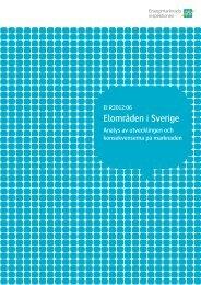 Elområden i Sverige. Analys av utveckling och konsekvenserna på ...