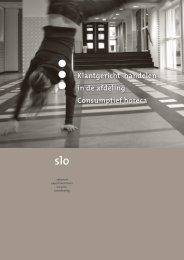 Klantgericht handelen in de afdeling Consumptief horeca - Vsho
