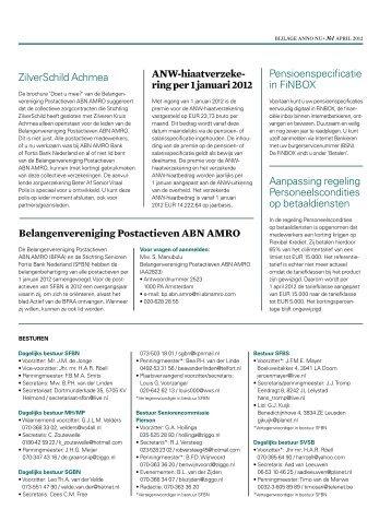 bijlage - ABN AMRO Pensioenfonds