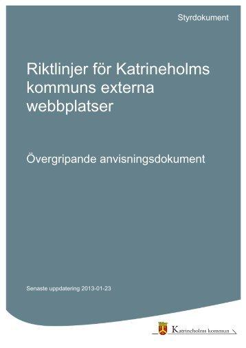 Riktlinjer för Katrineholms kommuns externa webbplatser.pdf