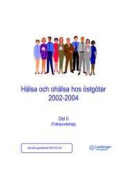 Hälsa och ohälsa hos östgötar 2002-2004 - Landstinget i Östergötland
