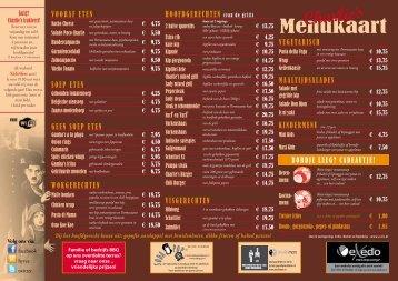 Menukaart - Charlie's Café