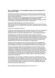 2012 – Cryptomozaïek – een samengesteld verslag van de 8e ...