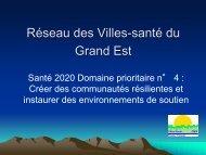 Voir la présentation - Réseau français des Villes-Santé de l'OMS