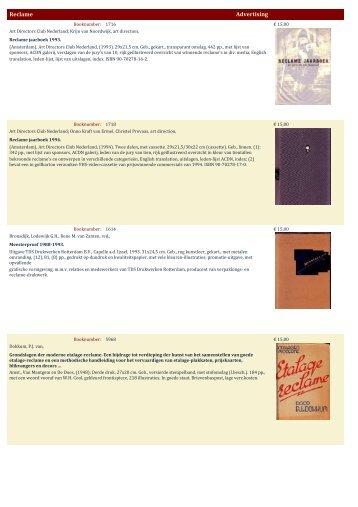 Reclame Advertising - Antiquariaat Clio / Cliobook