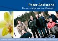 Ladda hem PDF - PATER - ditt assistansföretag