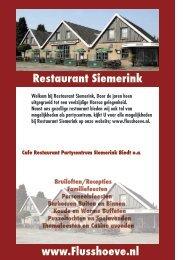 A'la carte kaart - Café-Restaurant Siemerink