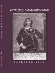 Jaarboek 2008 - Vereniging Oud Monnickendam