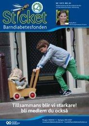 Sticket nr 1/2013 - Barndiabetesfonden