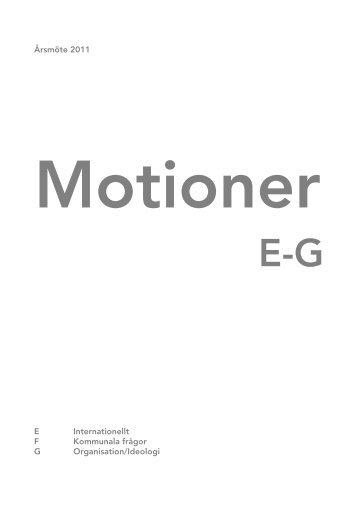 Motioner - Socialdemokraterna