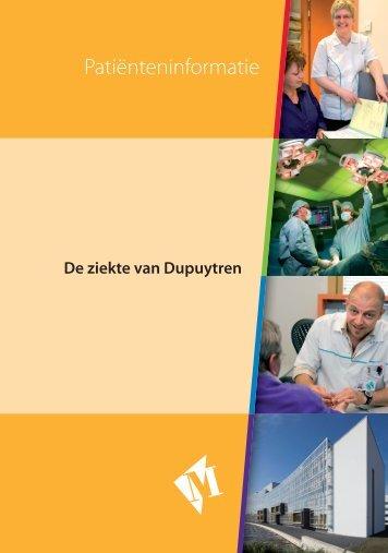 Folder De ziekte van Dupuytren - Martini ziekenhuis