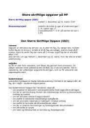 Oversigt over skriftlige opgaver i HF - Varde Gymnasium og HF