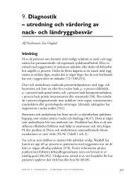 9. Diagnostik – utredning och värdering av nack- och ... - SBU