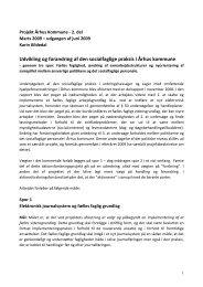 Udvikling og forandring af den socialfaglige praksis i Århus kommune