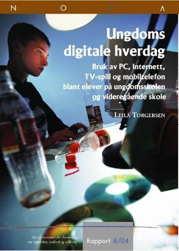Ungdoms digitale hverdag - Ungdata