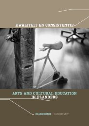 Kwaliteit en Consistentie Arts and Cultural Education in Flanders