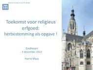 Presentatie Harrie Maas; religieus erfgoed - PON