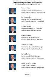 Gewählte Bewerberinnen und Bewerber - Cdu-Fraktion