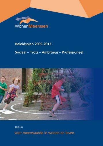Beleidsplan 2009-2013 Sociaal – Trots ... - Wonen Meerssen