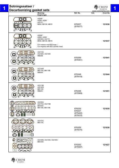 876391 Drive unit seal for Volvo Penta Saildrive 120 repalces# 875720