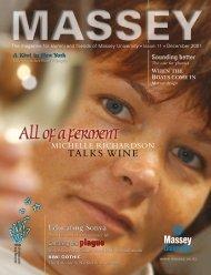 November 2001 - Massey University