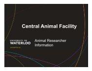 CAF - University of Waterloo