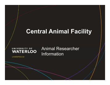 CAF - University of Waterloo