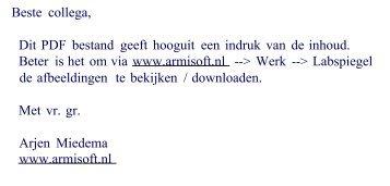 PDF bestand (rudimentair) - Welkom bij ARMISOFT