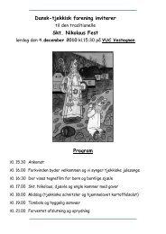 Dansk-tjekkisk forening inviterer Skt. Nikolaus Fest Program
