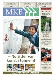 – Nu sitter vår konst i tunneln! - MKB Fastighets AB