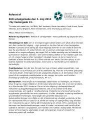 Referat af EUD udvalgsmøde den 3.5.2010 - Danske Erhvervsskoler